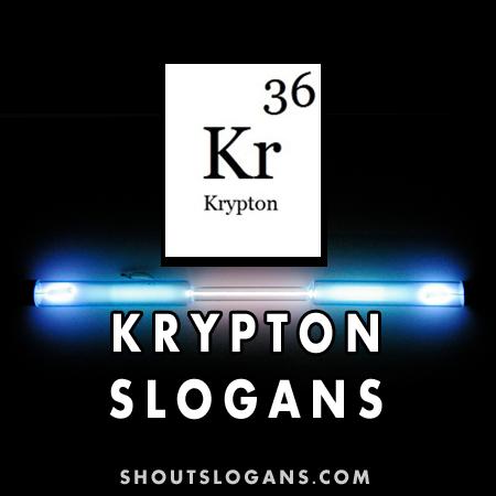 krypton slogans