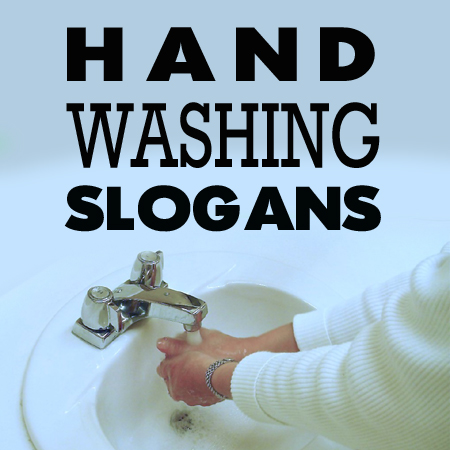 hand washing slogans