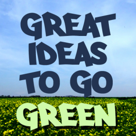 great ideas to go green