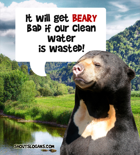 It will get very bad if our clean water is wasted.