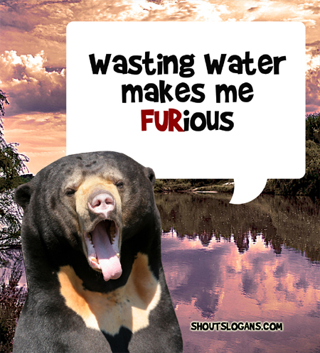 Wasting water makes me furious