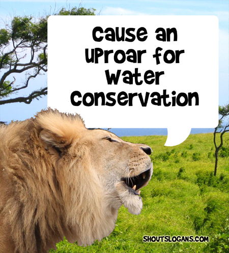 Make a noise for water conservation