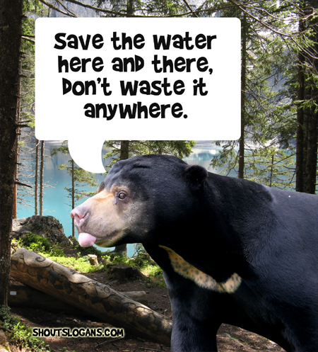Save water everywhere, don't waste it anyway.