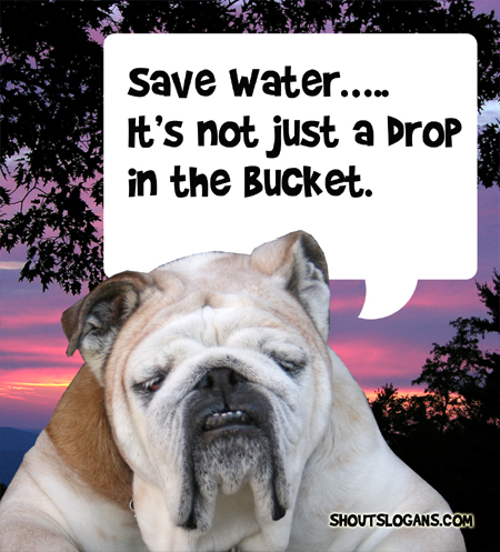 Every drop counts, Save Water.