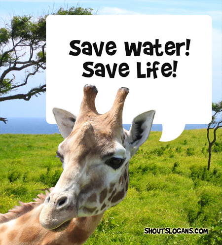 Save water, Save Life!