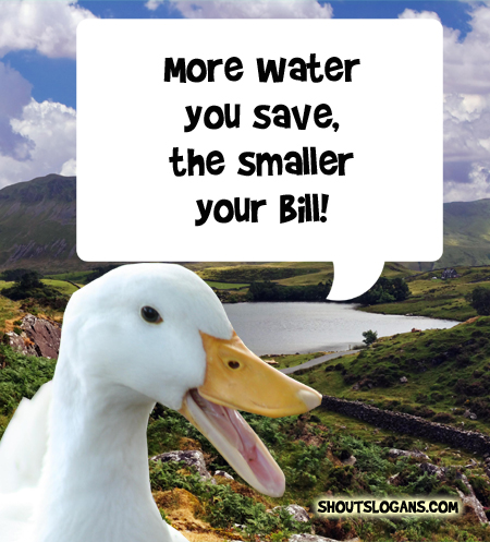 Save water, Save money.