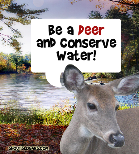 PLease help conserve water!